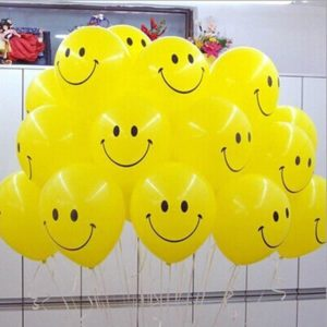 100pcs-10-inch-thick-Lovely-smile-face-pattern-Balloons-Latex-baby-birthday-Party-Decoration-Wedding-Supplies